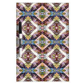 Warm Pastel Tribal Pattern Dry Erase Board