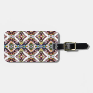 Warm Pastel Tribal Pattern Luggage Tag