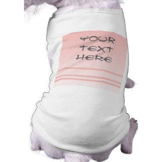 Warm Pink. Simple Elegant Design Dog Tee Shirt
