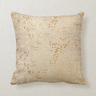 Warm Powder Gold Vip Shiny Cyber Numeric IT Throw Pillow