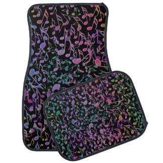 Warm Rainbow Musical Tapestry Car Mat