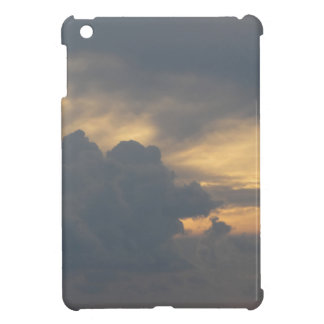 Warm sky with giants cumulonimbus clouds at sunset cover for the iPad mini