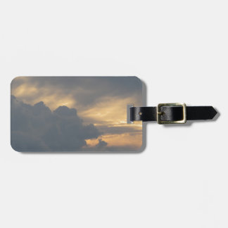 Warm sky with giants cumulonimbus clouds at sunset luggage tag