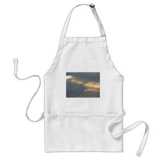 Warm sky with giants cumulonimbus clouds at sunset standard apron