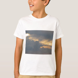 Warm sky with giants cumulonimbus clouds at sunset T-Shirt