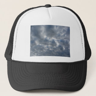 Warm sky with giants cumulonimbus clouds at sunset trucker hat