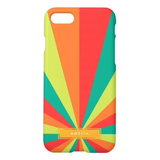 Warm Summer Personalized Name Colour Wheel iPhone 7 Case