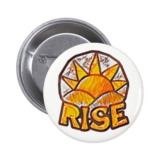 Warm Sun Rise ~ Uplifting Message 2 Inch Round Button