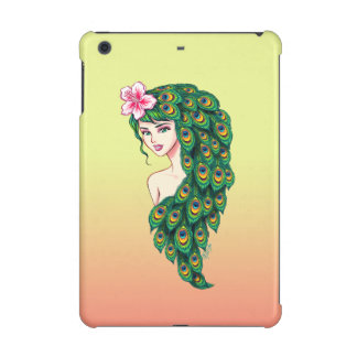 Warm Sunset Peacock Goddess Art iPad Mini Case