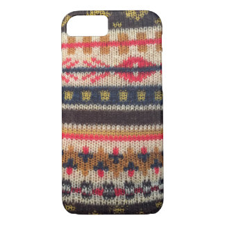 Warm Sweater Pattern Red Blue iPhone 7 iPhone 7 Case