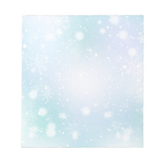 Warm Teal and Purple  Winter Wonderland Snowflakes Notepad