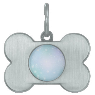 Warm Teal and Purple  Winter Wonderland Snowflakes Pet ID Tag