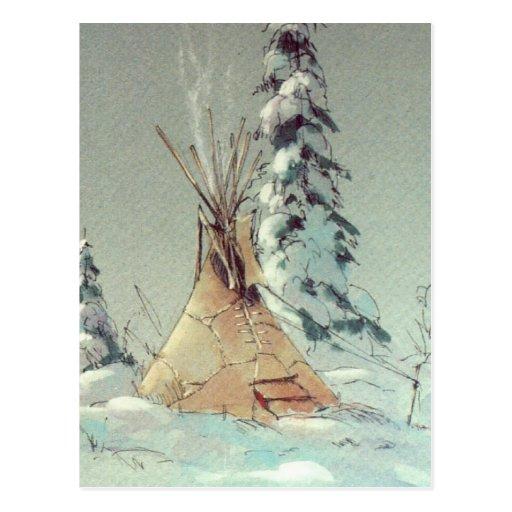 WARM TIPI by SHARON SHARPE Postcard