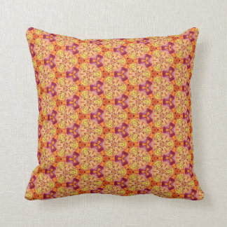 Warm Tone Orange Gold Magenta Style 014 Throw Pillow
