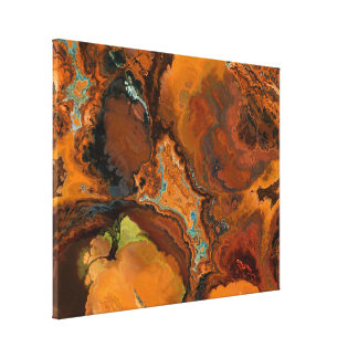 Warm Tones Archaeology Abstract Canvas Art Print Gallery Wrap Canvas