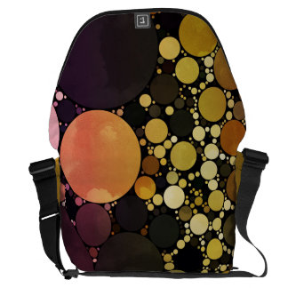 Warm Tones Circle Pattern Courier Bags