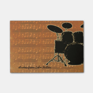 Warm Tones Drums Sticky Notes