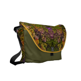 Warm Tones Floral Fantasy Allover-Pattern Messenge Courier Bags