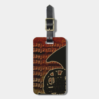 Warm Tones French Horn Bag Tags