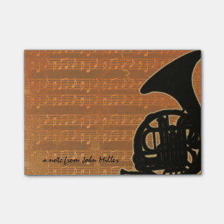 Warm Tones French Horn Post-It Note
