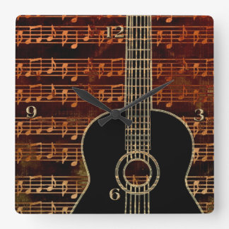 Warm Tones Guitar ID280 Clock