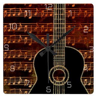 Warm Tones Guitar ID280 Clocks