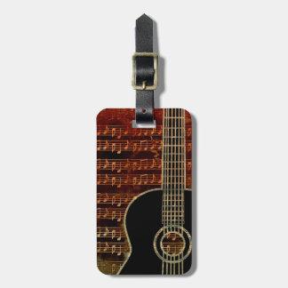 Warm Tones Guitar ID280 Luggage Tag