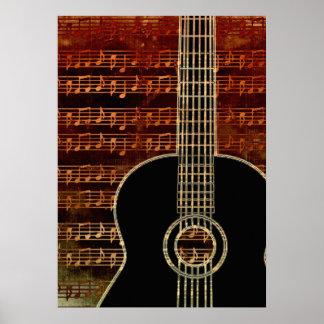 Warm Tones Guitar ID280 Poster
