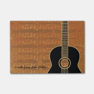 Warm Tones Guitar Post-It Note