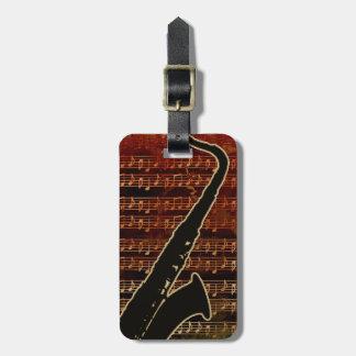 Warm Tones Saxophone ID280 Bag Tag