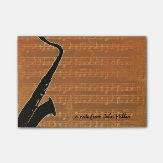 Warm Tones Saxophone Post-It Note