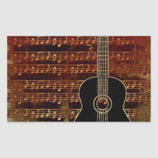 Warm Tones Rectangle Stickers