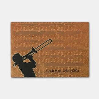 Warm Tones Trombone Post-It Notes