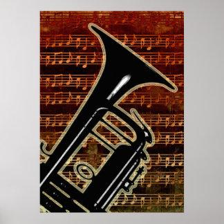 Warm Tones Trumpet ID280 Poster