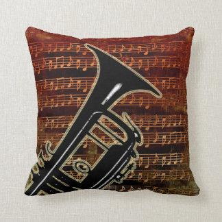 Warm Tones Trumpet ID280 Throw Pillow