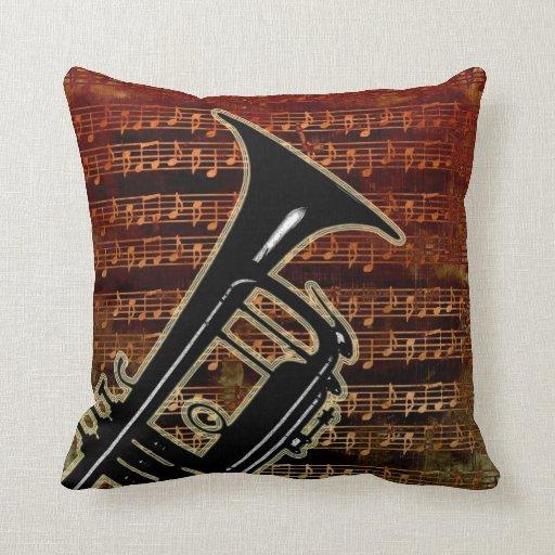 Warm Tones Trumpet Pillows