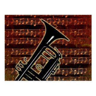 Warm Tones Trumpet Postcard