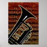 Warm Tones Trumpet Poster