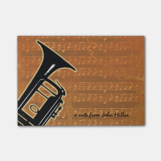 Warm Tones Trumpet Sticky Notes