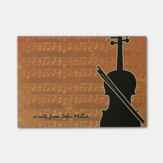 Warm Tones Violin Post-It Notes