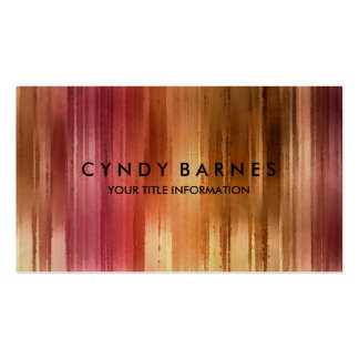Warm Tones Watercolor Stripes Business Card