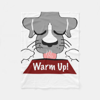 Warm Up! Dog with Dish Blanket! Fleece Blanket