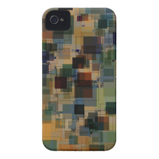 Warm Vintage Color Square Overlay iPhone 4 Cases