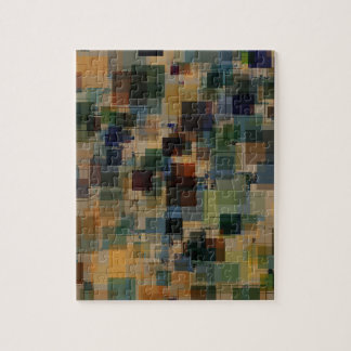 Warm Vintage Color Square Overlay Jigsaw Puzzle