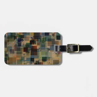Warm Vintage Color Square Overlay Luggage Tag