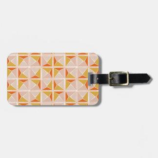 Warm Vintage Geometric Pattern Luggage Tag