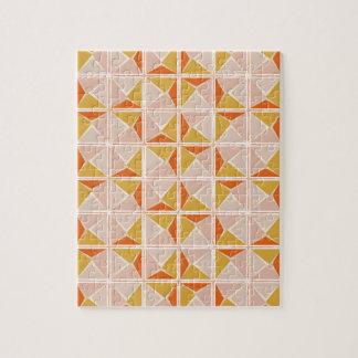 Warm Vintage Geometric Pattern Puzzle