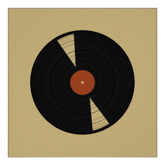 Warm Vinyl Poster