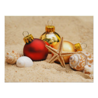 Warm Weather Christmas Poster