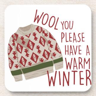 Warm Winter Beverage Coaster